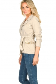 Fracomina |  Short trench coat Perla | natural  | Picture 5