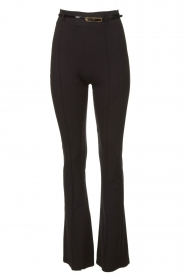 Fracomina | Trousers with belt Felicia | black  | Picture 1