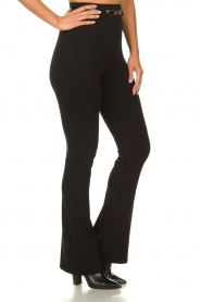 Fracomina | Trousers with belt Felicia | black  | Picture 4