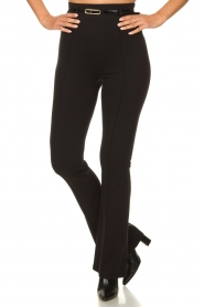 Fracomina | Trousers with belt Felicia | black  | Picture 2