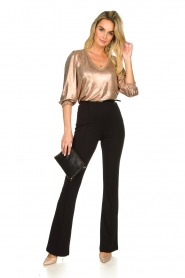 Fracomina | Trousers with belt Felicia | black  | Picture 3