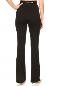 Fracomina | Trousers with belt Felicia | black  | Picture 6