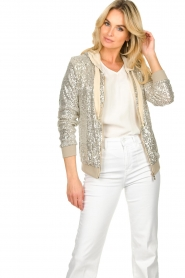 Fracomina | Sequin jacket Fraco | natural  | Picture 4