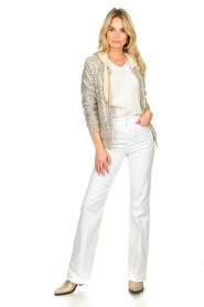Fracomina | Sequin jacket Fraco | natural  | Picture 3