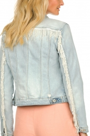 Fracomina |  Denim jacket with pearls Perla | blue  | Picture 7