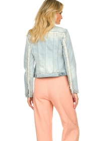 Fracomina |  Denim jacket with pearls Perla | blue  | Picture 8