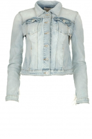 Fracomina |  Denim jacket with pearls Perla | blue  | Picture 1