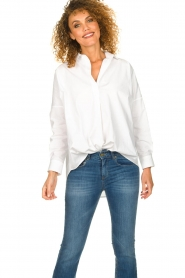 Set |  Wide blouse Donna | white  | Picture 2