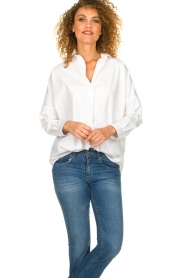 Set |  Wide blouse Donna | white  | Picture 4