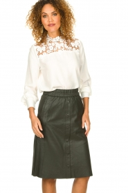 Set |  Top with lace details Ella | white  | Picture 4