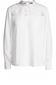 Set |  Top with lace details Ella | white  | Picture 1