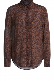 Set |  Blouse with leopard print Tigra | brown  | Picture 1