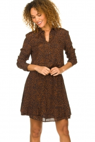 Set |  Blouse with leopard print Tigra | brown  | Picture 4