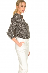 Set |  Blouse with leopard print Tigra | black  | Picture 4