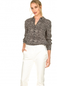 Set |  Blouse with leopard print Tigra | black  | Picture 2