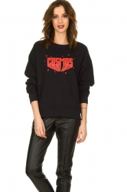 Set |  Sweater with text print Cosmos | black  | Picture 4