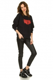 Set |  Sweater with text print Cosmos | black  | Picture 3