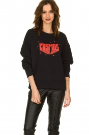 Set |  Sweater with text print Cosmos | black  | Picture 2