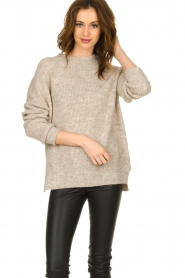 Set |  Sweater with high neck Josie | brown  | Picture 2