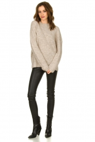Set |  Sweater with high neck Josie | brown  | Picture 3