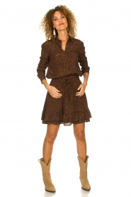 Set |  Skirt with leopard print Tigra | brown  | Picture 3