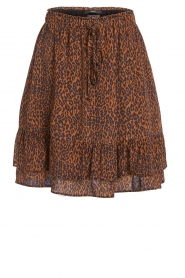 Set |  Skirt with leopard print Tigra | brown  | Picture 1