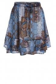Set |  Snake printed skirt Sizzly | blue  | Picture 1