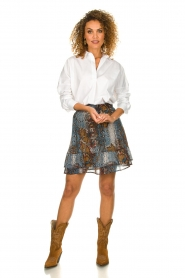 Set |  Snake printed skirt Sizzly | blue  | Picture 6
