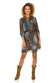 Set |  Snake printed skirt Sizzly | blue  | Picture 3