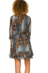 Set |  Snake printed skirt Sizzly | blue  | Picture 5