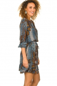 Set |  Snake printed skirt Sizzly | blue  | Picture 4