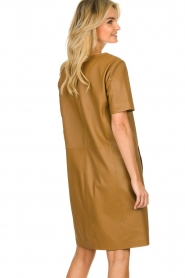 Set    Leather dress Jess   brown    Picture 6