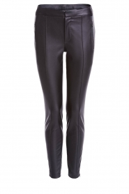Set |  Faux leather pants Mirthe | black  | Picture 1