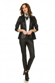 Set |  Faux leather pants Mirthe | black  | Picture 2