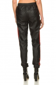 Set |  Leather pants with red side stripes Yris | black  | Picture 5
