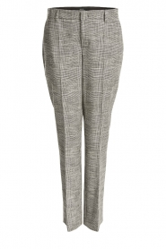 Set |  Checkered trousers Livia | black  | Picture 1