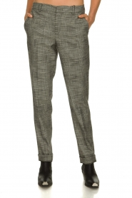 Set |  Checkered trousers Livia | black  | Picture 2