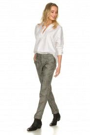 Set |  Checkered trousers Livia | black  | Picture 3