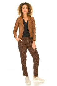 Set |  Pants with leopard print Tigra | brown  | Picture 3