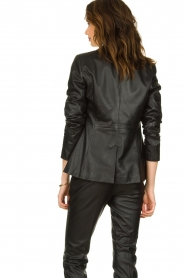 Set |  Leather blazer Kiki | black  | Picture 6