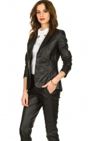 Set |  Leather blazer Kiki | black  | Picture 4