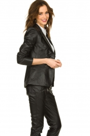 Set |  Leather blazer Kiki | black  | Picture 5