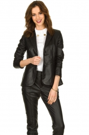 Set |  Leather blazer Kiki | black  | Picture 2