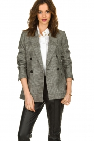 Set |  Checkered blazer Nina | grey  | Picture 4