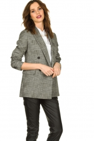 Set |  Checkered blazer Nina | grey  | Picture 2
