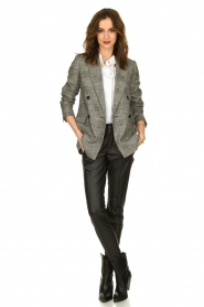 Set |  Checkered blazer Nina | grey  | Picture 3