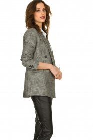 Set |  Checkered blazer Nina | grey  | Picture 5