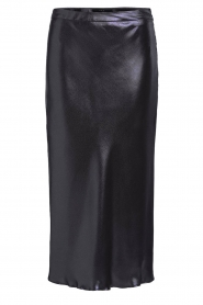 Set |  Shiny midi skirt  Sacha | black  | Picture 1