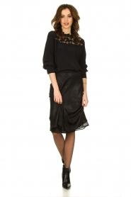 Set |  Shiny midi skirt  Sacha | black  | Picture 3