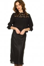 Set |  Shiny midi skirt  Sacha | black  | Picture 2
